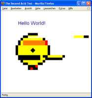 Acid2 Test mit Firefox